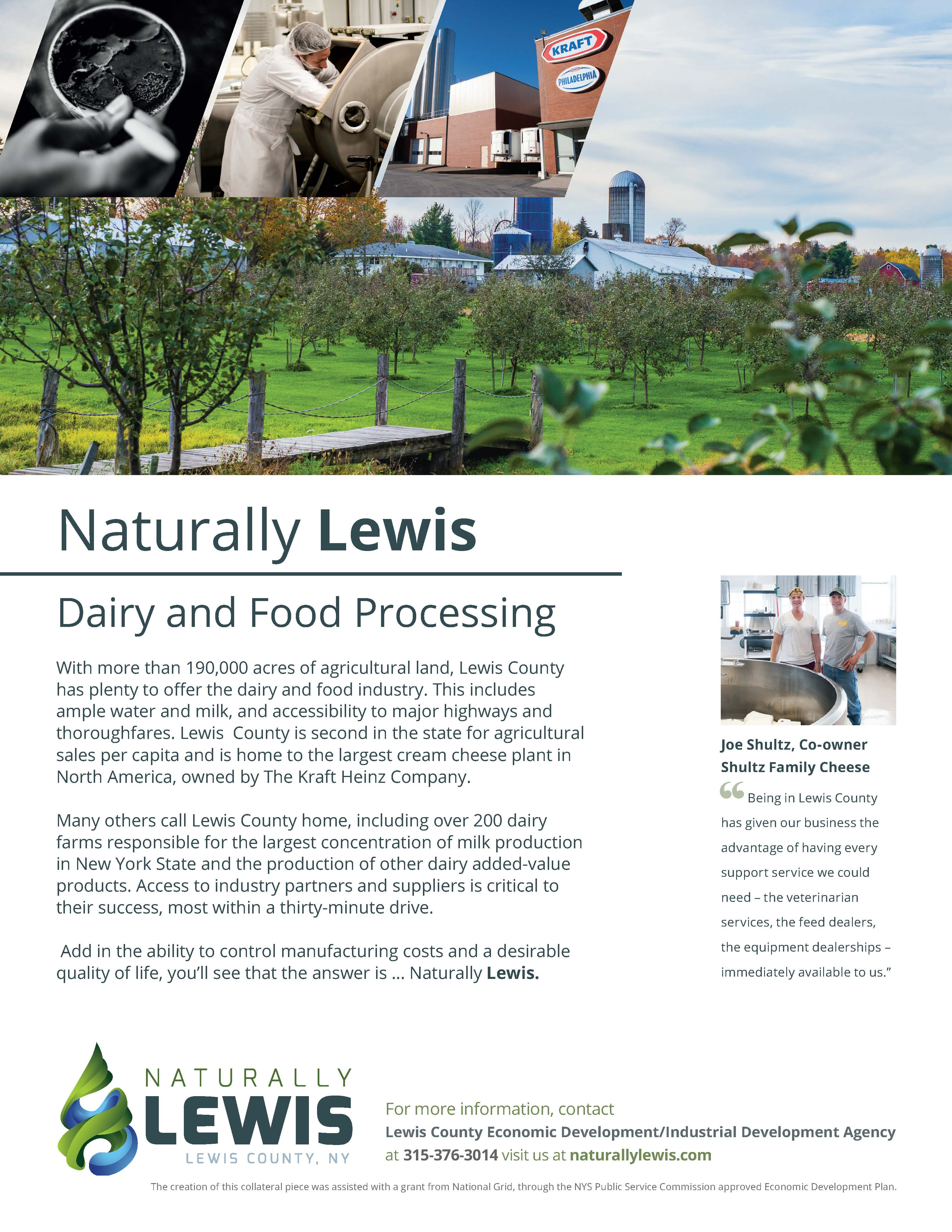 Dairy & Food Processing Sell Sheet